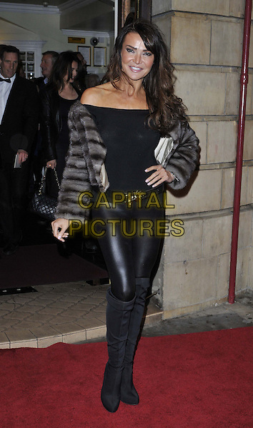 LONDON, ENGLAND - OCTOBER 23: Lizzie Cundy attends the &quot;Memphis&quot; press night performance, Shaftesbury Theatre, Shaftesbury Avenue, on Thursday October 23, 2014 in London, England, UK. <br /> CAP/CAN<br /> &copy;Can Nguyen/Capital Pictures