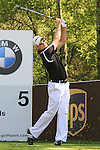 Justin Rose teeing off from the 3rd.during round three of the BMW PGA championship 2010 at Wentworth golf club, Surrey England..Picture Fran Caffrey/Newsfile.ie