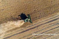 63801-13212 Harvesting soybeans in fall-aerial Marion Co. IL