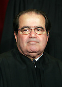 Washington, D.C. - March 3, 2006 -- Associate Justice Antonin Scalia poses for photos during a group portrait session at the United States Supreme Court Building in Washington, D.C. on  March 3, 2006. Scalia, a Reagan appointee, took his seat September 26, 1986.<br /> Credit: Pool via CNP