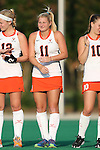 19 September 2014: Virginia's Lucy Hyams (ENG). The Duke University Blue Devils hosted the University of Virginia Cavaliers at Jack Katz Stadium in Durham, North Carolina in a 2014 NCAA Division I Field Hockey match. Virginia won the game 2-1.