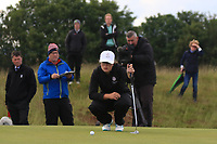Emily Toy (ENG) on the 18th green during the Matchplay Final of the Women's Amateur Championship at Royal County Down Golf Club in Newcastle Co. Down on Saturday 15th June 2019.<br /> Picture:  Thos Caffrey / www.golffile.ie