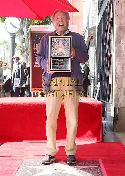 Hollywood, CA - February 14: George Segal, At George Segal Hollywood Walk Of Fame Ceremony, At The Hollywood Walk Of Fame Ceremony In California on February 14, 2017. <br /> CAP/MPI/FS<br /> &copy;FS/MPI/Capital Pictures
