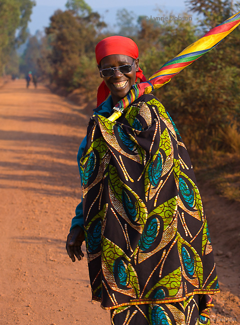 Burundians are a friendly, joyful culture, despite the hardships of poverty. Their wear brightly colored clothing reflects their positive attitudes. Many women wore these fashion shades, and carried carnival colored umbrellas to shield them from the strong sun.