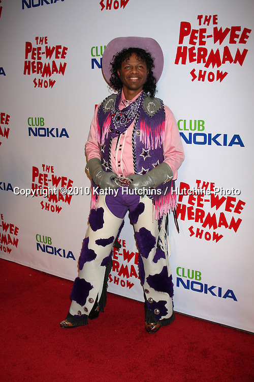 "Phil LaMarr as Cowboy Curtis.arriving at the ""The Pee Wee Herman Show"" Opening Night..Club Nokia.Los Angeles, CA.January 20, 2010.©2010 Kathy Hutchins / Hutchins Photo...."