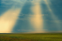 God Rays and stormy sky, Val Marie, Saskatchewan, Canada