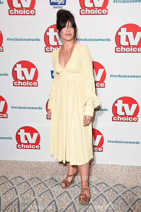 LONDON, UK. September 10, 2018: Caroline Catz at the TV Choice Awards 2018 at the Dorchester Hotel, London.<br /> Picture: Steve Vas/Featureflash