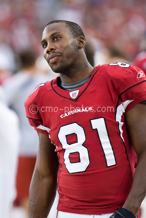 Jan 18, 2009; Glendale, AZ, USA; Arizona Cardinals wide receiver Anquan Boldin (81) late in the fourth quarter of the Cardinals' 32-25 victory in the the NFC Championship Game over the Philadelphia Eagles at University of Phoenix Stadium.