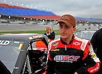 Oct. 30, 2009; Talladega, AL, USA; NASCAR Camping World Truck Series driver Austin Dillon during qualifying for the Mountain Dew 250 at the Talladega Superspeedway. Mandatory Credit: Mark J. Rebilas-