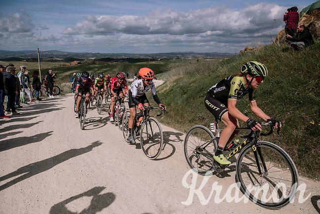 eventual race winner Annemiek Van Vleuten (NED/Mitchelton-Scott)<br /> <br /> 5th Strade Bianche WE (1.WWT)<br /> One day race from Siena to Siena (136km)<br /> <br /> ©JojoHarper for kramon