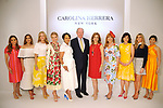 From left: Honorees Heidi Smith, Kristina Somerville, Stephanie Tsuru, Valerie Dieterich, Gayla Gardner,  Jack Sweeney from the Houston Chronicle, honorees Vicki West, Gracie Cavnar, Denise Castillo Rhodes, Gina Bhatia and Kristy Bradshaw at the Houston Chronicle's 2019 Best Dressed Luncheon and Fashion Show at the Post Oak Hotel Thursday March 28,2019.  (Dave Rossman Photo)