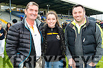 Martin and Sarah Burns and Tim O'Sullivan Dr Crokes supporters at the Senior County Football Championship final at Fitzgerald Stadium on Sunday.