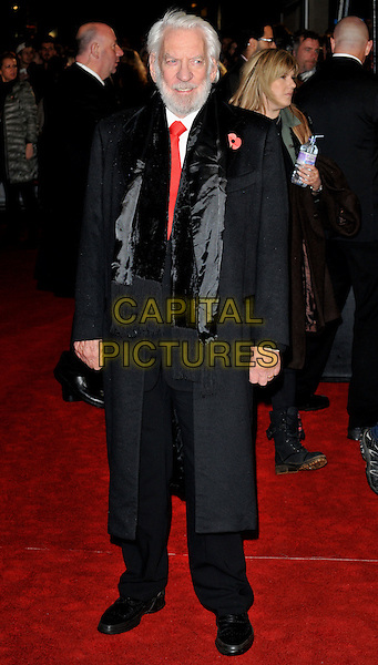 Donald Sutherland attends the , Odeon Leicester Square, Leicester Square, London, England, UK, on Thursday 05 November 2015. <br /> CAP/CAN<br /> &copy;CAN/Capital Pictures