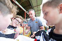 Picture by Allan McKenzie/SWpix.com - 22/04/2018 - Rugby League - Ladbrokes Challenge Cup - York City Knight v Catalans Dragons - Bootham Crescent, York, England - Steve McNamara signs autographs.