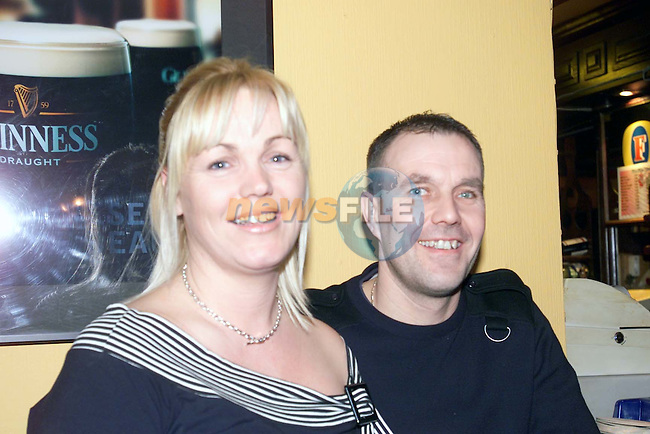 Denise and Mark Reid enjoying a night in The Pheasant.Picture Sarah Hanan Newsfile