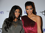 WEST HOLLYWOOD, CA. - October 21: Kourtney Kardashian and Kimberly Kardashian arrive at the Lamar Odom launch of Rich Soil at Kitson L.A. on October 21, 2009 in West Hollywood, California.