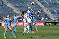 Bridgeview, IL - Saturday April 22, 2017: Alexa Newfield, Julie Ertz during a regular season National Women's Soccer League (NWSL) match between the Chicago Red Stars and FC Kansas City at Toyota Park.