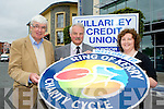 Tim O'Brien left from the Ring of Kerry Charity Cycle with George McSweeney Catherine Coffey at the launch of Killarney Credit Union sponsorship of the Ring of Kerry Cycle in Killarney on Tuesday