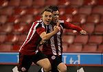 Sheffield united's Keegan Burton celebrates his winning goal with George Cantrill during the FA Youth Cup First Round match at Bramall Lane Stadium, Sheffield. Picture date: November 1st 2016. Pic Richard Sellers/Sportimage