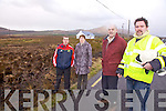 Pictured here at the site of the Friday's gorse fire at Ardcost which claimed close to 200 acres of ground are l-r; Stephen Donnelly, Mary McGill, Denis O'Sullivan(Forestry Consultant) & Andrew Garvey(Station Officer Cahersiveen Fire Brigade).