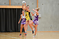Pulse&rsquo; Elle Temu in action during the Netball Pre Season Tournament - Pulse v Stars at Ngā Purapura, Otaki, New Zealand on Saturday 9 February  2019. <br />