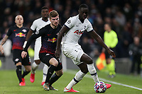 Timo Werner of RB Leipzig  and Davinson Sanchez of Tottenham Hotspur during Tottenham Hotspur vs RB Leipzig, UEFA Champions League Football at Tottenham Hotspur Stadium on 19th February 2020