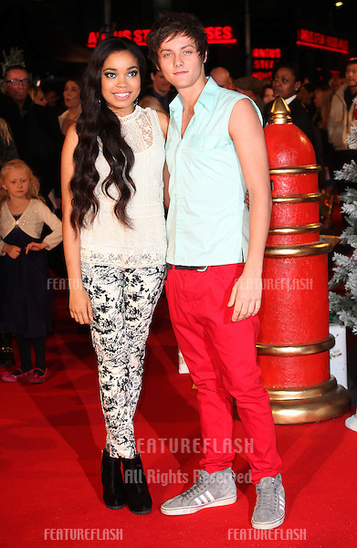 Tyger Drew Honey and Dionne Bromfield arriving for the Nativity 2: Danger In The Manger Premiere, at Empire Leicester Square, London. 13/11/2012 Picture by: Alexandra Glen / Featureflash