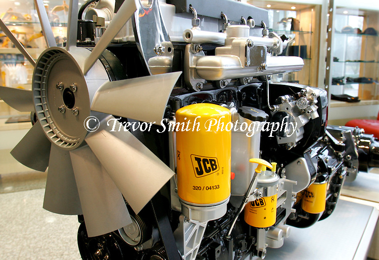 JCB diesel engine in a showroom | Trevor Smith Photography Ltd