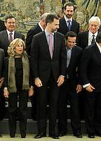 Prince Felipe of Spain during a meeting with a representation of the Financial Genova Club (Club Financiero Genova).January 9 ,2012. (ALTERPHOTOS/Acero) /NortePhoto