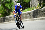 Julian Alaphilippe (FRA) Quick-Step Floors in action during the opening Prologue of the 2018 Criterium du Dauphine running 6.6km around Valence, France. 3rd June 2018.<br /> Picture: ASO/Alex Broadway | Cyclefile<br /> <br /> <br /> All photos usage must carry mandatory copyright credit (&copy; Cyclefile | ASO/Alex Broadway)