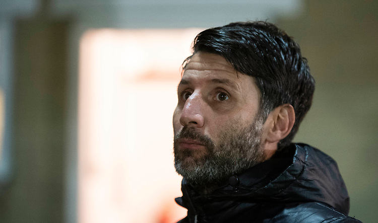 Lincoln City manager Danny Cowley<br /> <br /> Photographer Andrew Vaughan/CameraSport<br /> <br /> The EFL Checkatrade Trophy Second Round - Accrington Stanley v Lincoln City - Crown Ground - Accrington<br />  <br /> World Copyright © 2018 CameraSport. All rights reserved. 43 Linden Ave. Countesthorpe. Leicester. England. LE8 5PG - Tel: +44 (0) 116 277 4147 - admin@camerasport.com - www.camerasport.com