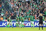 10.09.2017, OLympiastadion, Berlin, GER, 1.FBL, Hertha BSC VS. SV Werder Bremen, im Bild <br /> 1: 1 durch Delaney (Werder Bremen), Alexander Esswein (Hertha BSC Berlin #7)<br /> <br />       <br /> Foto &copy; nordphoto / Engler