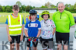 Ciaran Doyle, Thomas Healy, Julie Healy and David Doyle  at the Ring of the Reeks cycle in Beaufort on Saturday