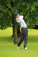 Sean Flanagan (Co. Sligo) on the 3rd tee during round 1 of The Mullingar Scratch Cup in Mullingar Golf Club on Sunday 3rd August 2014.<br /> Picture:  Thos Caffrey / www.golffile.ie