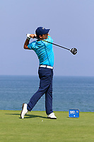 Felipe Aguilar (CHI) during the first round of the NBO Open played at Al Mouj Golf, Muscat, Sultanate of Oman. <br /> 15/02/2018.<br /> Picture: Golffile   Phil Inglis<br /> <br /> <br /> All photo usage must carry mandatory copyright credit (&copy; Golffile   Phil Inglis)