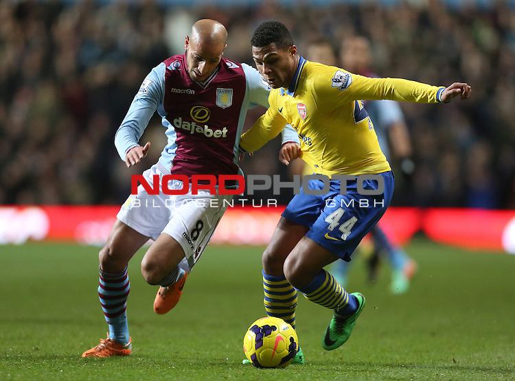 Aston Villa's Karim El Ahmadi battles with Arsenal's Serge Gnabry  -  13/01/2014 - SPORT - FOOTBALL - Villa Park - Birmingham - Aston Villa v Arsenal - Barclays Premier League<br /> Foto nph / Meredith<br /> <br /> ***** OUT OF UK *****