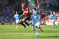 Riyad Mahrez of Manchester City right catches Ryan Fraser of AFC Bournemouth during AFC Bournemouth vs Manchester City, Premier League Football at the Vitality Stadium on 25th August 2019