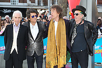 The Rolling Stones - Keith Richards &amp; Ronnie Wood &amp; Mick Jagger &amp; Charlie Watts at the opening night gala of The Rolling Stones' &quot;Exhibitionism&quot; at the Saatchi Gallery. <br /> April 4, 2016  London, UK<br /> Picture: James Smith / Featureflash