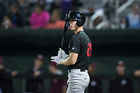 Great Falls Voyagers right fielder Logan Sowers (29) during a Pioneer League game against the Idaho Falls Chukars at Melaleuca Field on August 18, 2018 in Idaho Falls, Idaho. The Idaho Falls Chukars defeated the Great Falls Voyagers by a score of 6-5. (Zachary Lucy/Four Seam Images)