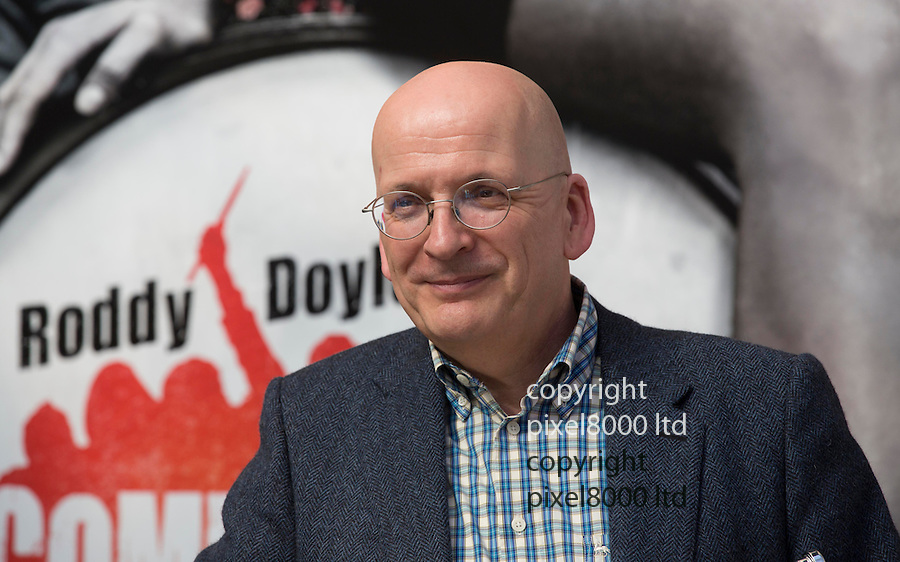 The Commitments - musical launch with Author Roddy Doyle..Roddy Doyle   - outside the Palace Theatre in Cambridge Circus today.....Pic by Gavin Rodgers/Pixel 8000 Ltd