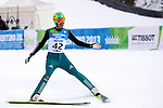 GER Tobias Simon competes during the training of the Nordic Combined NH as part of the Trentino 2013 Winter Universiade Italy on 12/12/2013 in Predazzo, Italy.<br /> <br /> &copy; Pierre Teyssot - www.pierreteyssot.com