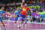 handball wordl cup match between Spain vs Slovenia. cañellas . 2015/01/23. Doha. Qatar. Alberto de Isidro.Photocall 3000