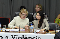 SAO PAULO, 29 DE JUNHO DE 2012 - AUDIENCIA VIOLENCIA CONTRA A MULHER MARTA SUPLICY - Senadora Marta Suplicy (E) e deputada Jo Moraes em audiencia sobre a questão da violência contra a mulher no Estado de São Paulo, na tarde desta sexta feira, na Assembleia Legislativa, regiao sul da capital. FOTO: ALEXANDRE MOREIRA - BRAZIL PHOTO PRESS