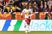 Peguy Luyindula (88) of the New York Red Bulls. The New York Red Bulls defeated the Chicago Fire 5-2 during a Major League Soccer (MLS) match at Red Bull Arena in Harrison, NJ, on October 27, 2013.