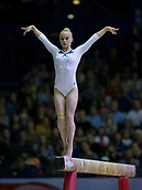 22nd March 2018, Arena Birmingham, Birmingham, England; Gymnastics World Cup, day two, womens competition; Angelina Melnikova (RUS) on the Balance Beam during her competition routine