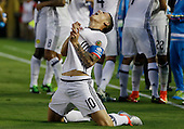 James Rodriguez celebra tras anotar en el partido entre Colombia y Paraguay en la Copa América Centenario USA 2016 en el Rose Bowl Stadium, Pasadena, California, el 6 de junio de 2016.<br /> Foto: Archivolatino<br /> <br /> COPYRIGHT: Archivolatino/Alejandro Sanchez<br /> Prohibida su venta y su uso comercial.
