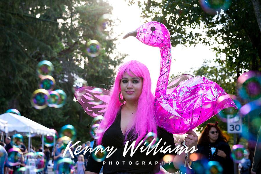 Pink Fairy, Arts A Glow Festival, Burien, WA, USA.