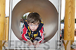 Brandon Sweeney Castleisland going through the tunnel at the opening of the new playground in Castleisland on Sunday