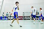 Stockholm 2014-03-02 Handboll Elitserien Hammarby IF - Ystads IF :  <br /> Ystads Mikkel Ibsen deppar under matchen<br /> (Foto: Kenta J&ouml;nsson) Nyckelord:  Ystad Bajen HIF depp besviken besvikelse sorg ledsen deppig nedst&auml;md uppgiven sad disappointment disappointed dejected