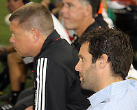Ben Olsen head coach of D.C. United during an MLS match against FC Dallas at RFK Stadium in Washington D.C. on August 14 2010. Dallas won 3-1.